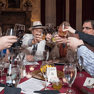 Chicago Murder Mystery guests raise glasses
